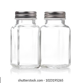 bottle glass for seasoning isolated on white background