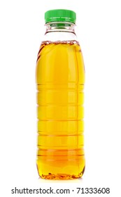 Bottle with juice isolated on white