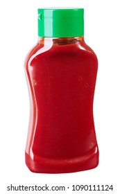 Bottle of Ketchup isolated on white background 500 ml, 250 ml