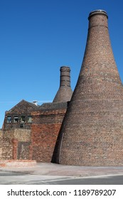 Bottle kilns of the Potteries, Stoke on Trent Staffordshire, England, evidence of a once thriving ceramic industry.
