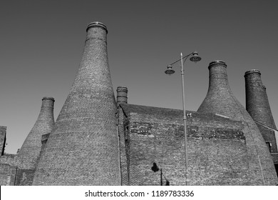 Bottle kilns of Stoke on Trent Staffordshire (The Potteries). The last surviving indication of a once thriving pottery industry.
