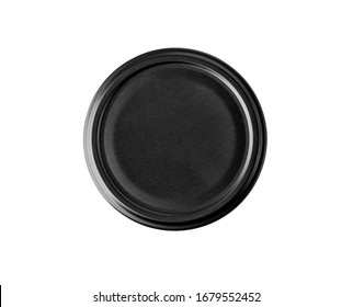 bottle lid isolated on white background, top view with clipping path