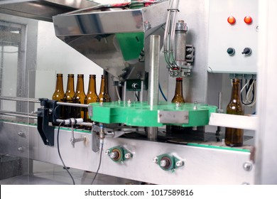 Bottle manufacturing in microbrewery.