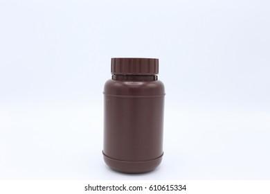 Bottle of medicine, brown