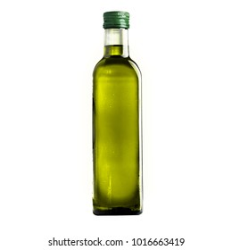 bottle of olive oil on a white background isolation
