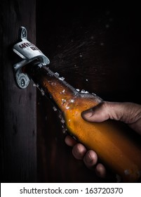 Bottle Opening with Spray