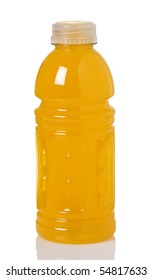 Bottle of orange sport drink with vitamins to keep you hydrated while active