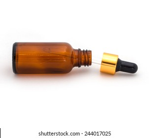 Bottle with a pipette for a facial serum.