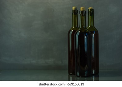 Bottle with red wine on a beautiful background