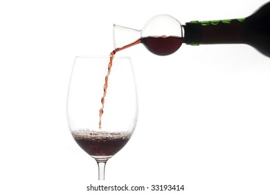 bottle serving wine