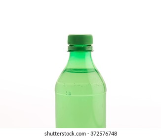 Bottle with soft drink onwhite background
