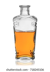 a bottle of strong alcohol on a white background