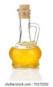 bottle of sunflower oil isolated on white background