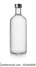 Bottle of vodka isolated