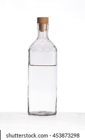 Bottle of vodka isolated.