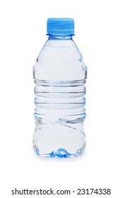 Bottle of water isolated on the white
