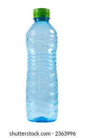 A bottle of water isolated on white background