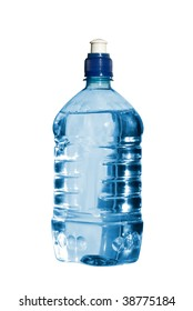 Bottle of water. Isolated on white background with clipping path.