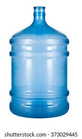 bottle of water on white isolated background