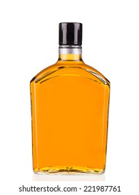 Bottle of whiskey isolated on a white background