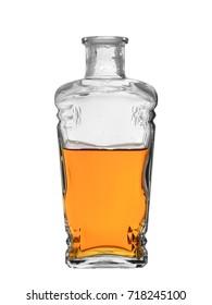 bottle of whiskey isolated on white background