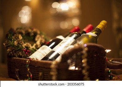 Bottle Of Wine In The Basket