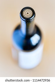 Bottle of wine close-up with blur