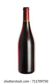 Bottle of wine, isolated on white background