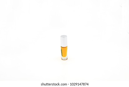 A bottle with a yellow elixir on white background, Herbal Extract, Thailand herbs