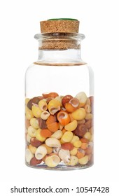 bottled holidays- small shells in salted water to keep them bright