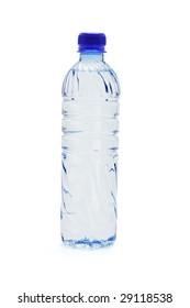 Bottled water isolated on white background