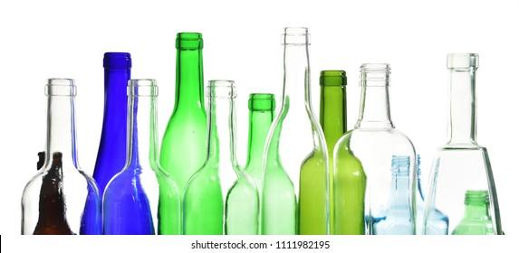bottlenecks on white background,