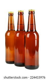 Bottles of beer isolated on white