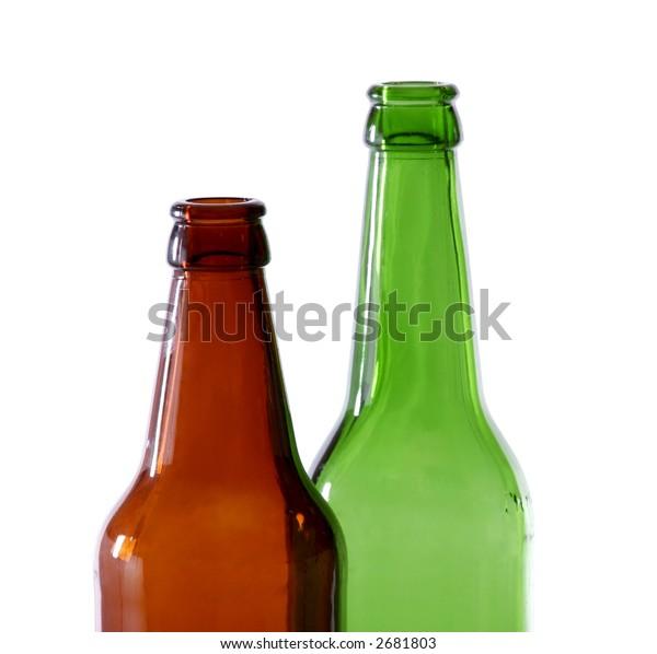 Bottles colored