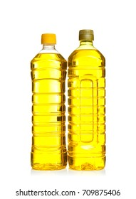 Bottles of cooking oil, isolated on white
