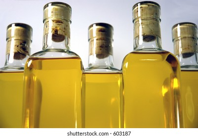 Bottles of cyser, low view