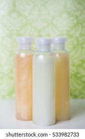 Bottles with lotion