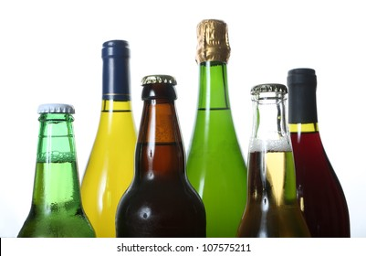 bottles of wine and beer