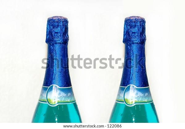 Bottles of wine - isolated background