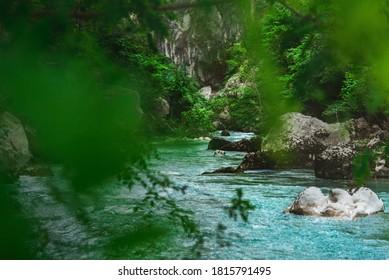 Au pied du canyon, dans les Gorges du Verdon.