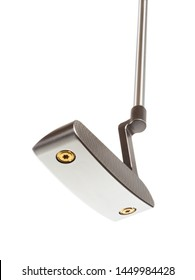 Bottom of Golf Club Putter Isolated on a White Background.