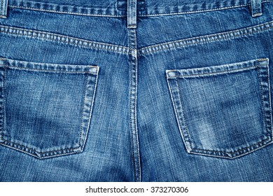 a bottom jeans pants seen from behind