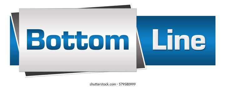 Bottom Line Blue Grey Horizontal