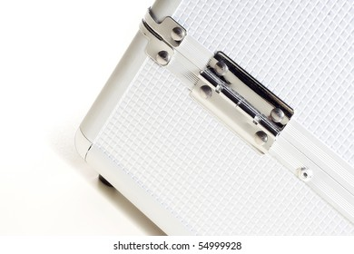 Bottom part of a metal case one is used for storing make-up accessories