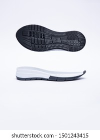 bottom and side view of sneakers sole