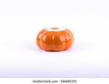 bottom small bowl pumpkin round shape orange color