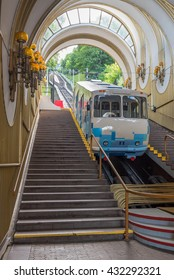 The bottom station of the Kiev funicular