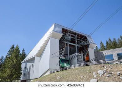 bottom station saentis mountain furnicular switzerland