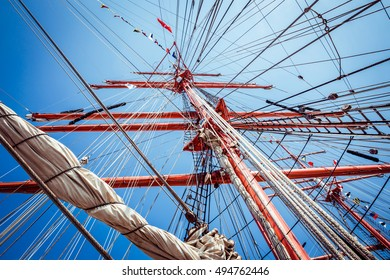 Bottom view to the mast