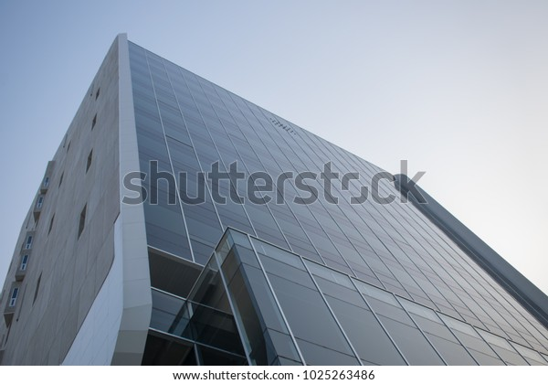 Bottom View Modern Skyscrapers Modern Architecture Stock Photo ...